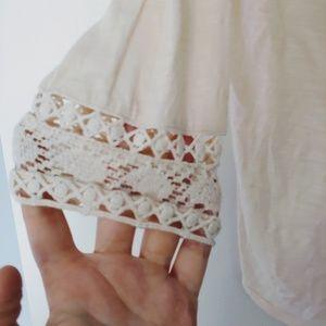 Lucky Brand Tops - Lucky Brand Cream Crochet Top